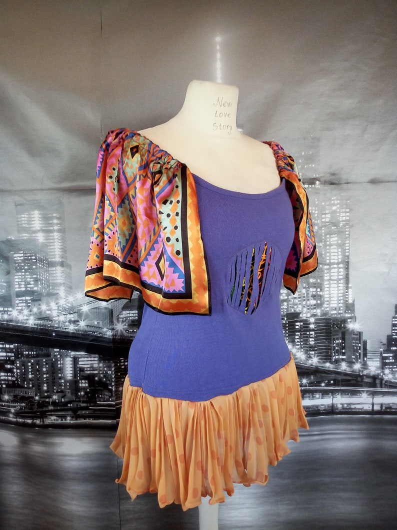 Different Style  M-XL Summer tshirt Tunic Top,Trendy Unique Clothing,Upcycled Clothing,Free People Tunic Top,Bohemian Tunic Top,Hippie
