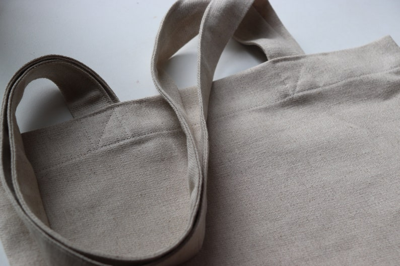 Simple and Light Linen Tote Bag