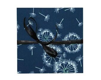 Leporello photo album with fabric, gift