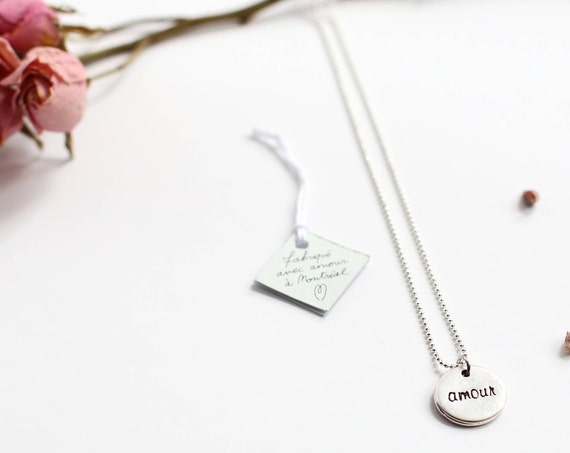 Love necklace, a medallion for oneself