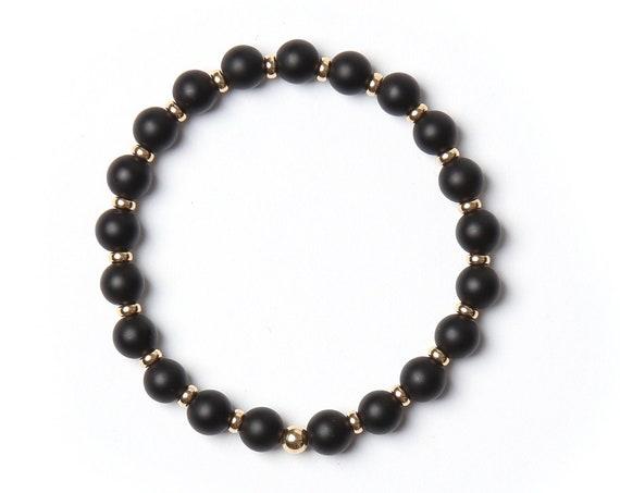Knight bracelet semi-precious stones handmade in Montreal
