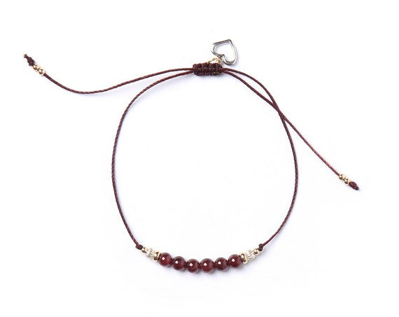 Selena Bracelet semi-precious stones on nylon thread handmade in Montreal