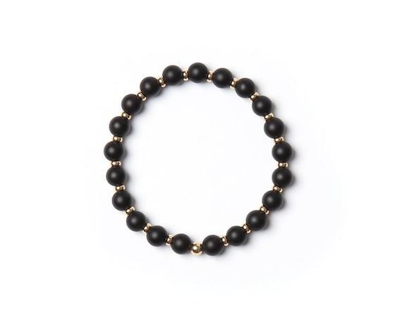 Moss bracelet semi-precious stones handmade in Montreal