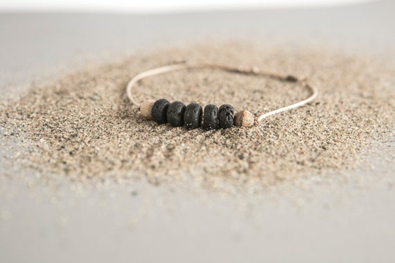 Stones bracelet on a nylon thread for men