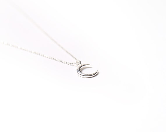 Moon necklace in real silver