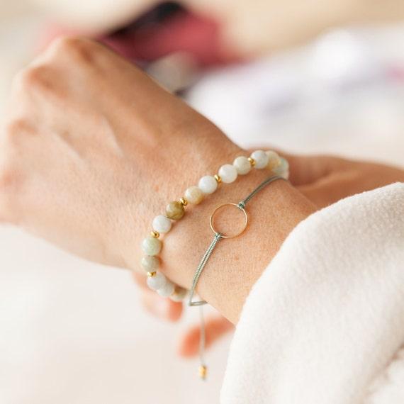 "bracelets duo ""marilou"" and ""jadeite"""