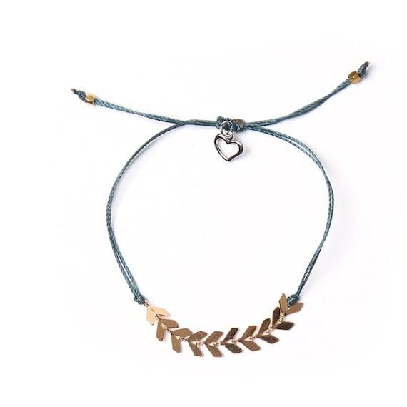 Leaf bracelet handmade with love in Montreal