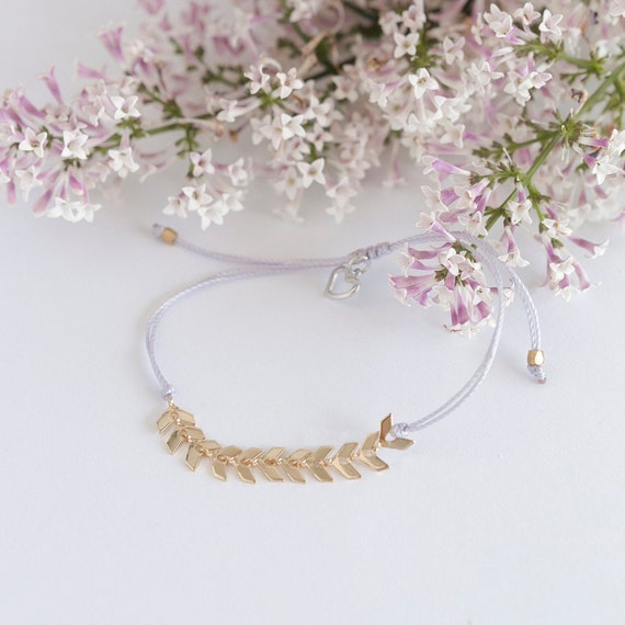 Leaf bracelet handmade with love in Montreal