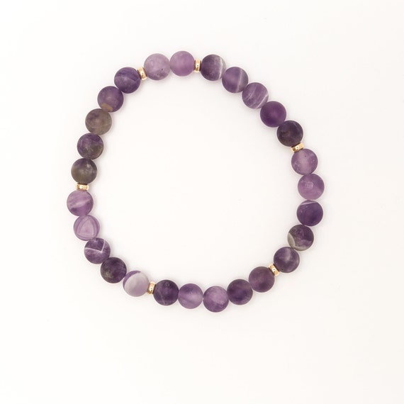 Amethyst 6 mm bracelet
