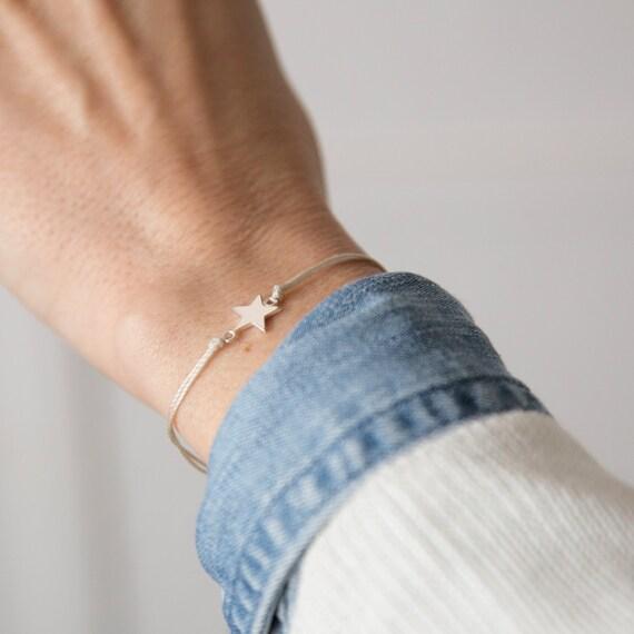 Silver star bracelet handmade in Montreal