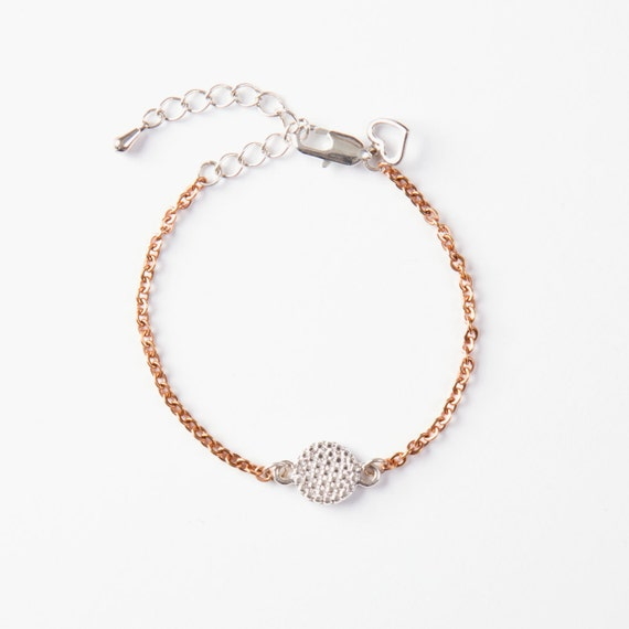 Bracelet stainless steel with charm handmade in Montreal