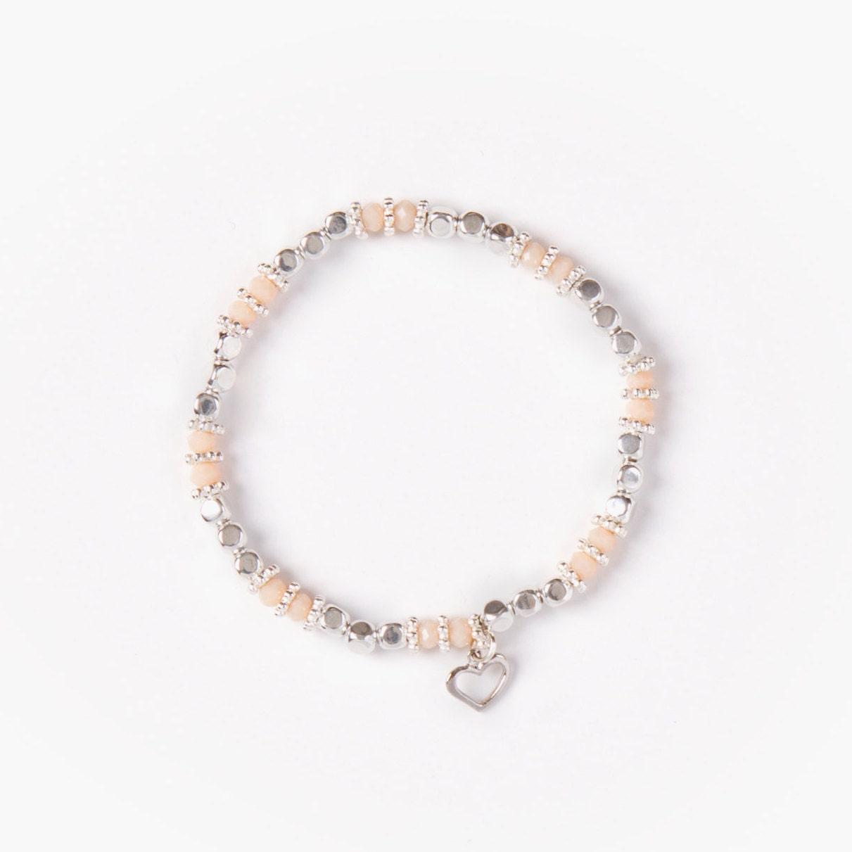 bracelet jayna fil lastique perles cubes en etsy. Black Bedroom Furniture Sets. Home Design Ideas