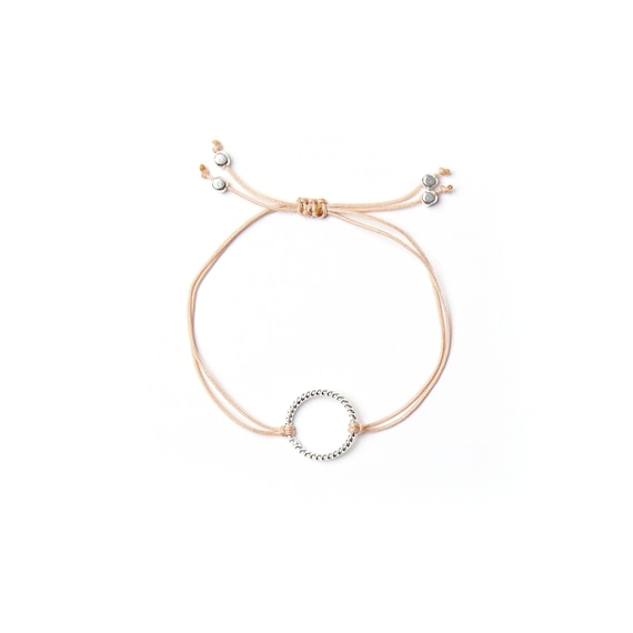 """Ring charm bracelet """"isabel"""" on thread handmade in Montreal, Canada"""