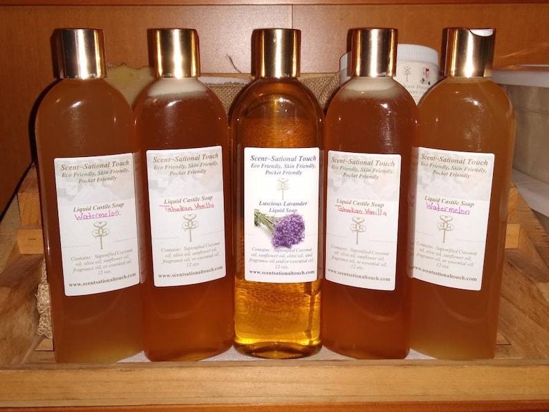 Golden Delux liquid Soap 10 oz. image 0