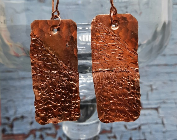 Hand Hammered Copper Earrings - Mis-Match Me!
