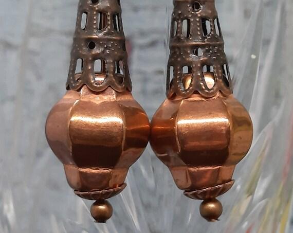 Copper Cone Earrings - Must see!