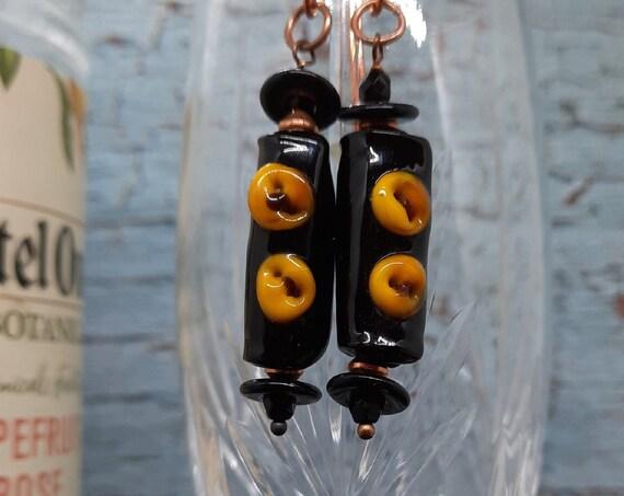 Darkman Lampwork Earrings