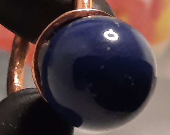 Lapis Lazuli and Copper Ring - Size US 6