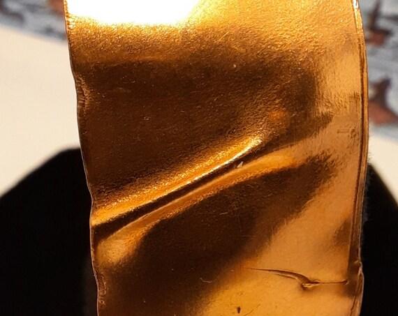 Glowing Brushed Copper Cuff