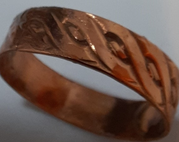"""Copper """"weave"""" ring Size 12"""