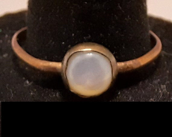 Stacking Style Copper Ring with Mother of Pearl