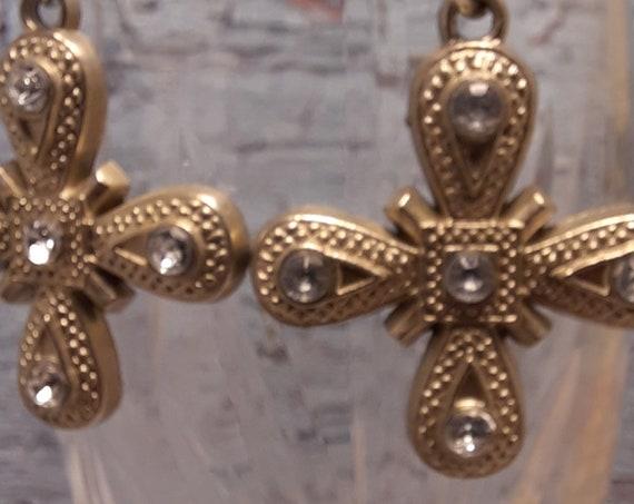 Maltese Cross Earrings - Sterling Wires