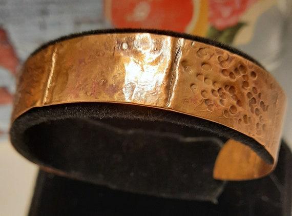 Slim Fold Formed Copper Bracelet / Cuff