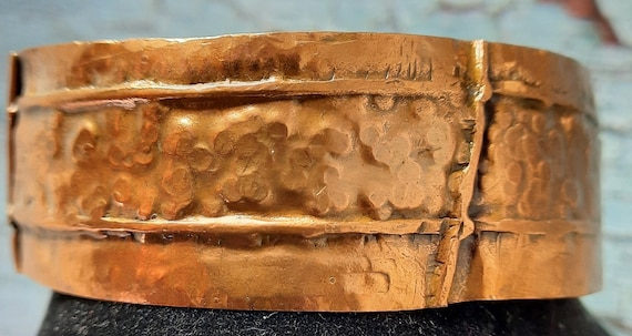 Hammered and Fold-Formed Copper Cuff Bracelet - pure copper!