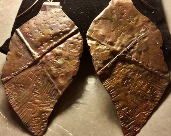 Form Fold Copper Leaf Earrings