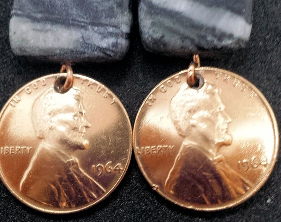 1964 US Penny Earrings - Birthday Surprise!