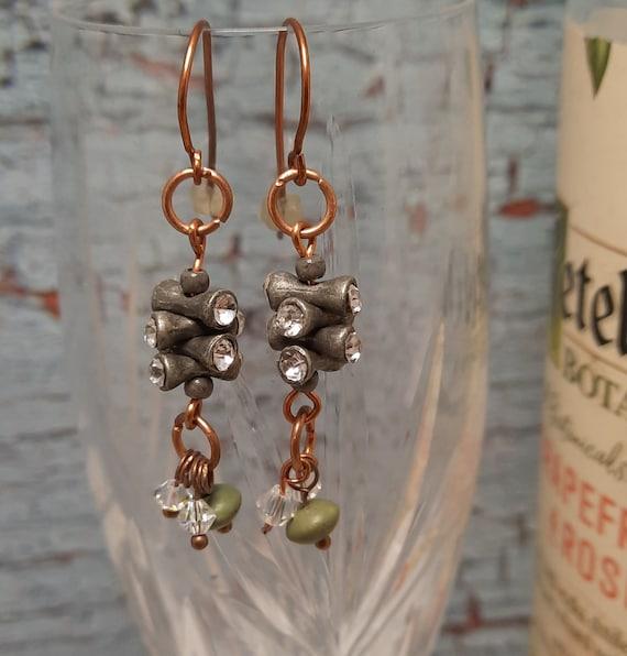 Earth and Sky Copper Earrings