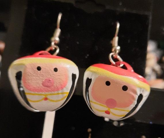 Santa Jingle Bell Earrings - Sugar Plums