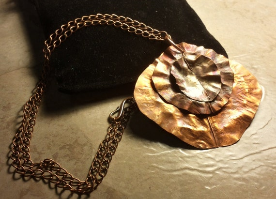 Organic Copper Necklace