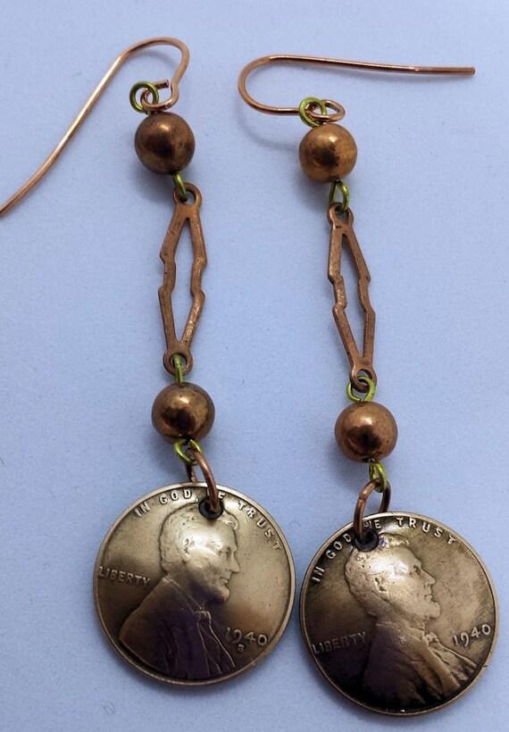 1940 U.S. Penny Earrings