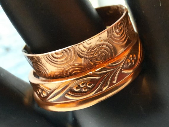 3 pure copper stacking rings US size 8.5