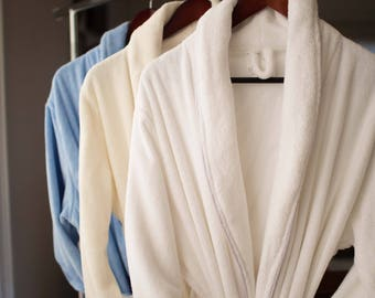 Organic Bath Robe - Terry style absorbent 100% Certified cotton