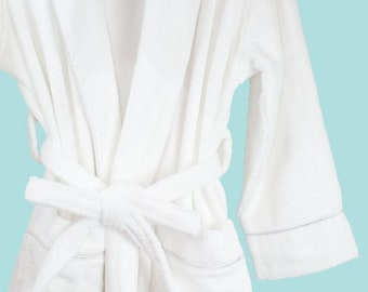 e5639e5aa8 Organic Bath Robe - Terry style absorbent 100% Certified cotton