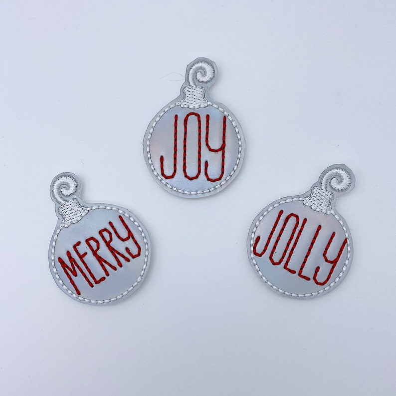 Iridescent Holiday Ornaments Feltie Felties for Hairbows Coffee Cozies Planner Clips