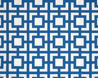 6e2f1b8d3bd Blue Fabric by the Yard Upholstery Geometric Home Decor GIGI COBALT Premier  Prints material yardage - 1 yard or more - SHIPsFAST