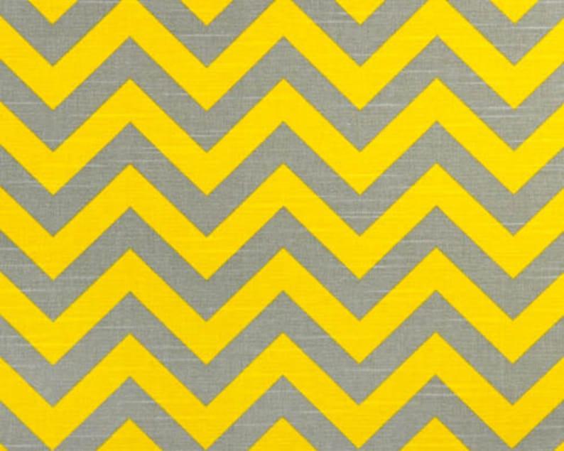 Chevron Fabric Yellow Grey By The Yard Premier Prints Zigzag Etsy