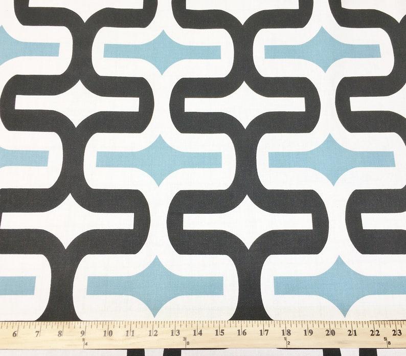 Black Blue Geometric Fabric by the YARD all Cotton Embrace Regatta Home Decor Premier Prints SHIPsFAST
