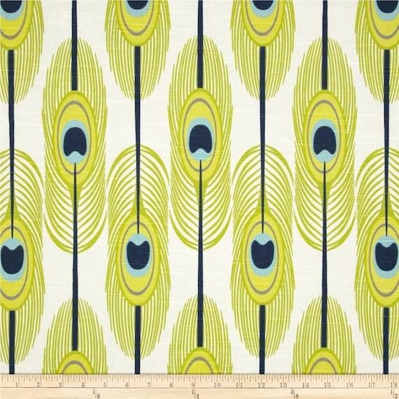 Peacock Feathers Fabric Yardage Upholstery Premier Prints Etsy