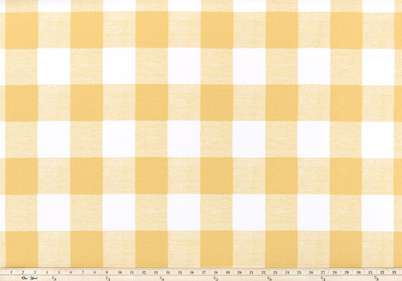 Yellow Buffalo Plaid Check Fabric by the SAMPLE YARD or BOLT image 0