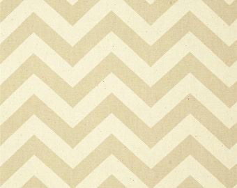 Beige Tan Chevron Fabric by the YARD all Cotton Zigzag Khaki Premier Prints natural Home Decor curtains pillows runner drapes SHIPsFAST