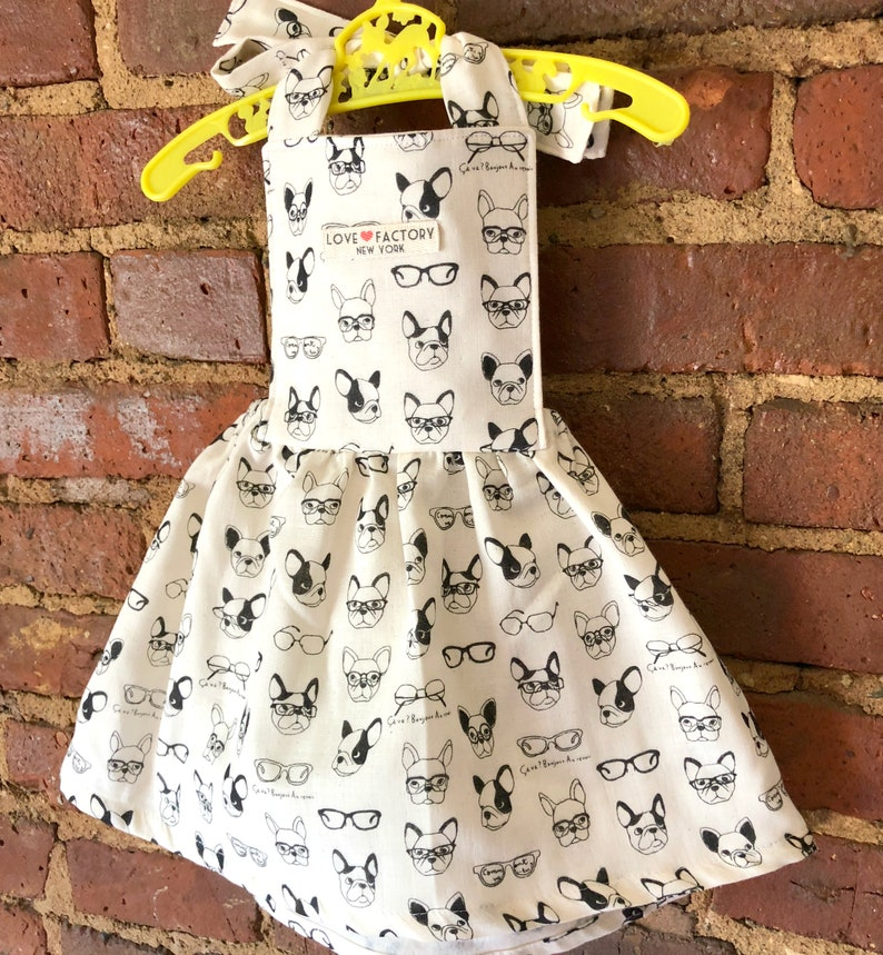 Baby Girl Pinafore Dress Kawaii Dog Print Baby Girl Dress Baby Etsy