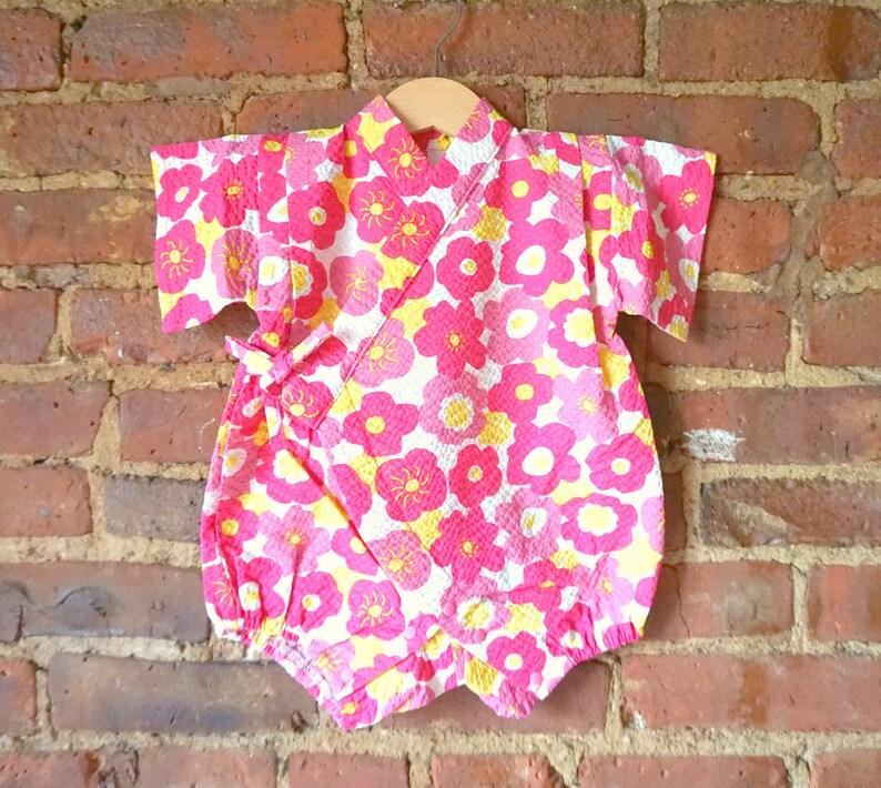 5a1fc0cae Baby girl kimono rompers-baby kimono onesie jinbei-baby girl | Etsy