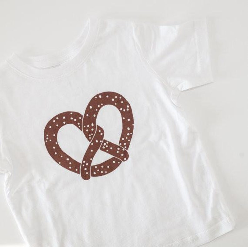 New York Kids T Shirt White Cotton Pretzel Tee Children Etsy