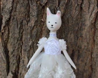 Petit lapin de la forêt enchantée en porcelaine Flumo