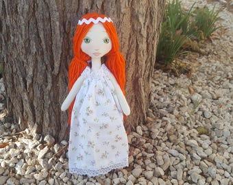 DIY Kit poupée en tissu, rousse, facile à réaliser
