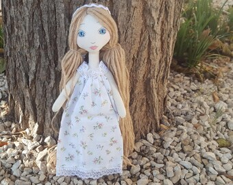 DIY Kit poupée en tissu, châtain, facile à réaliser